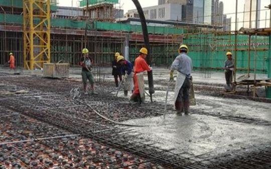 深圳市首个再生块体混凝土应用项目——深圳湾创新科技中心再生块体混凝土楼板成功浇筑
